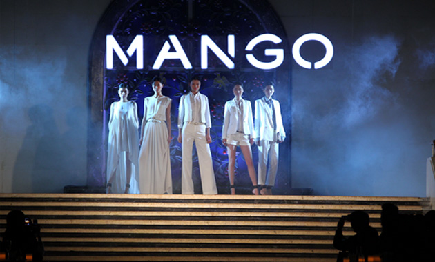 Mango clothing on catwalk