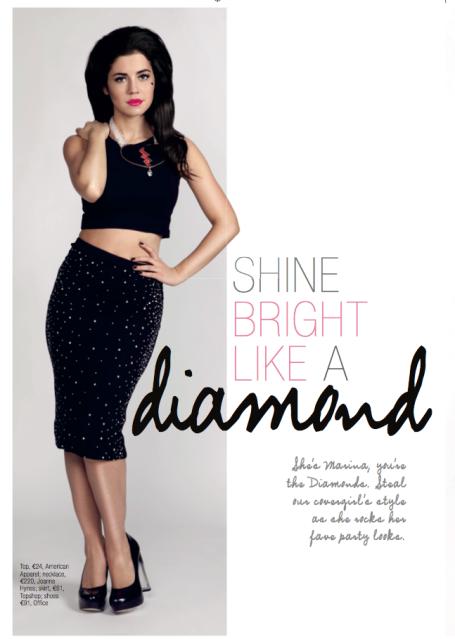 Marina & the Diamonds wearing Joanne Hynes