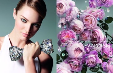 Nick Knight shoots Candice Swanepoel in Swarovski Elements campaign