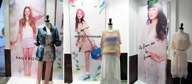Showcases at i.t fashion multilabel store press preview
