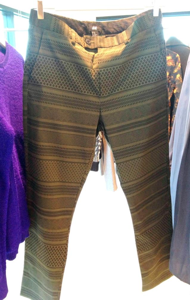 Tapered stripe pants