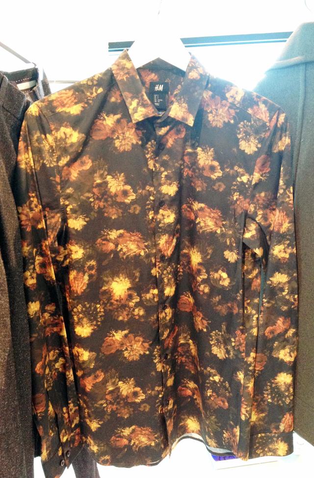 Nature-toned floral printed shirt