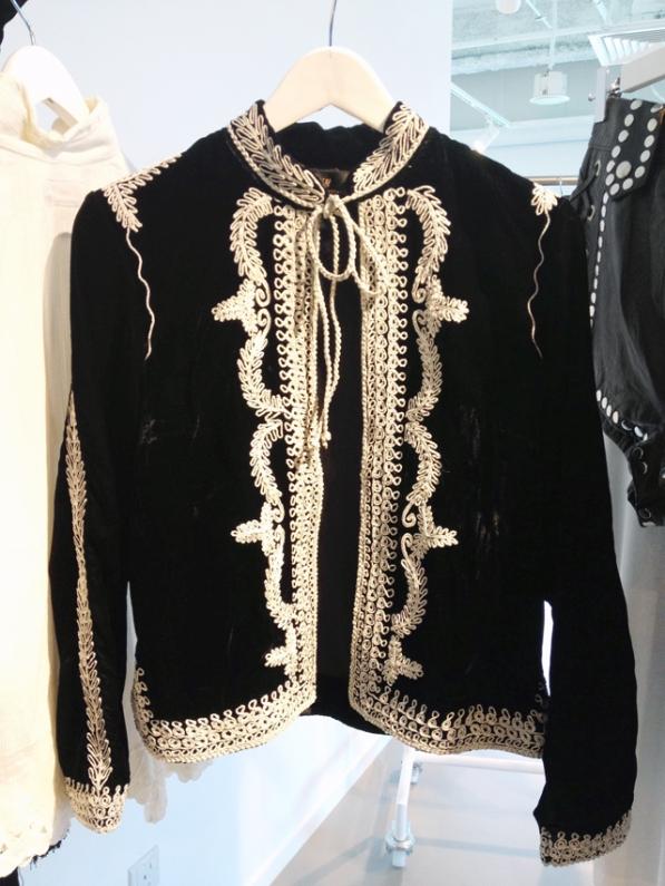 Victorian-inspired velvet boxy jacket