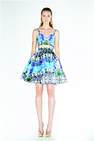 LALALOVE LONDON Insect-Spaceship Top and Skirt