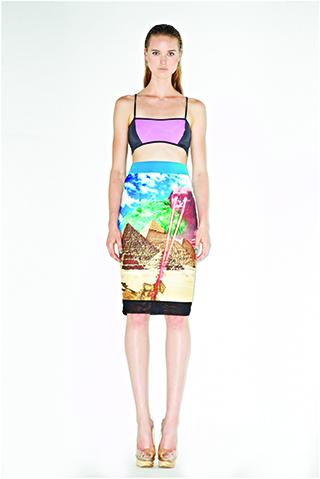 LALALOVE LONDON Pyramid Pencil Skirt