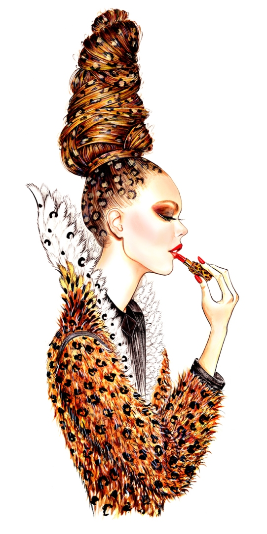 Lip Couture, outfit inspired by Jean Paul Gaultier Fall 2013 Couture collection
