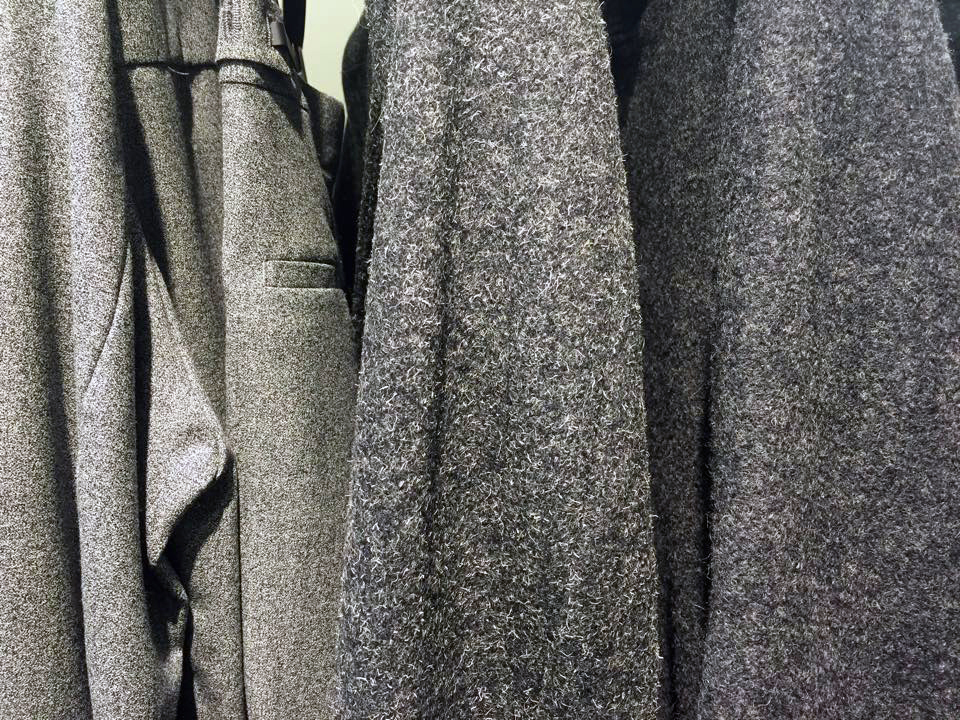Close-up of wool texture of the clothes
