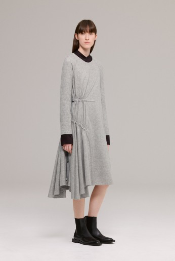 Grey wool flannel dress