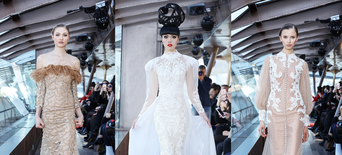 Jessica Minh Anh: The Seine River Couture Catwalk Fantasy