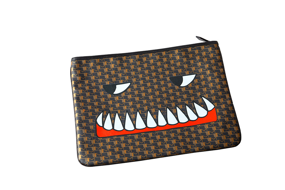 Pouch Bad Dreams GM Adam - Canvas - Carbone_lr